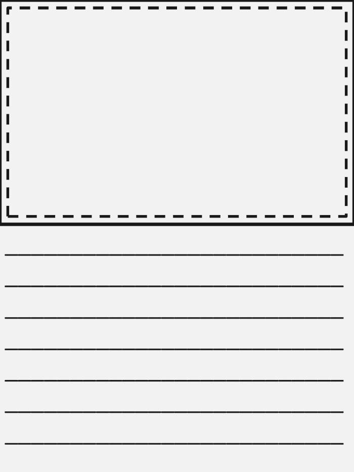 Writing Paper with Picture Box Pdf