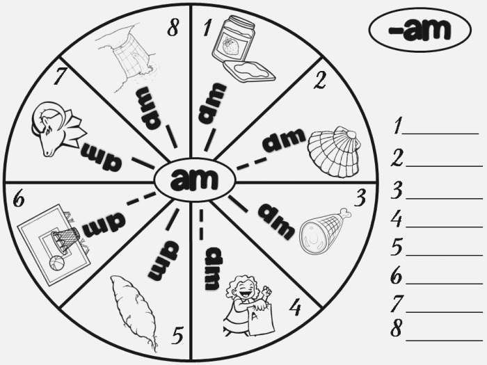 10 Best Of Am Word Families Worksheets Am Word