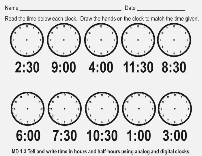 18 Best Of Telling Time Worksheets for First Grade