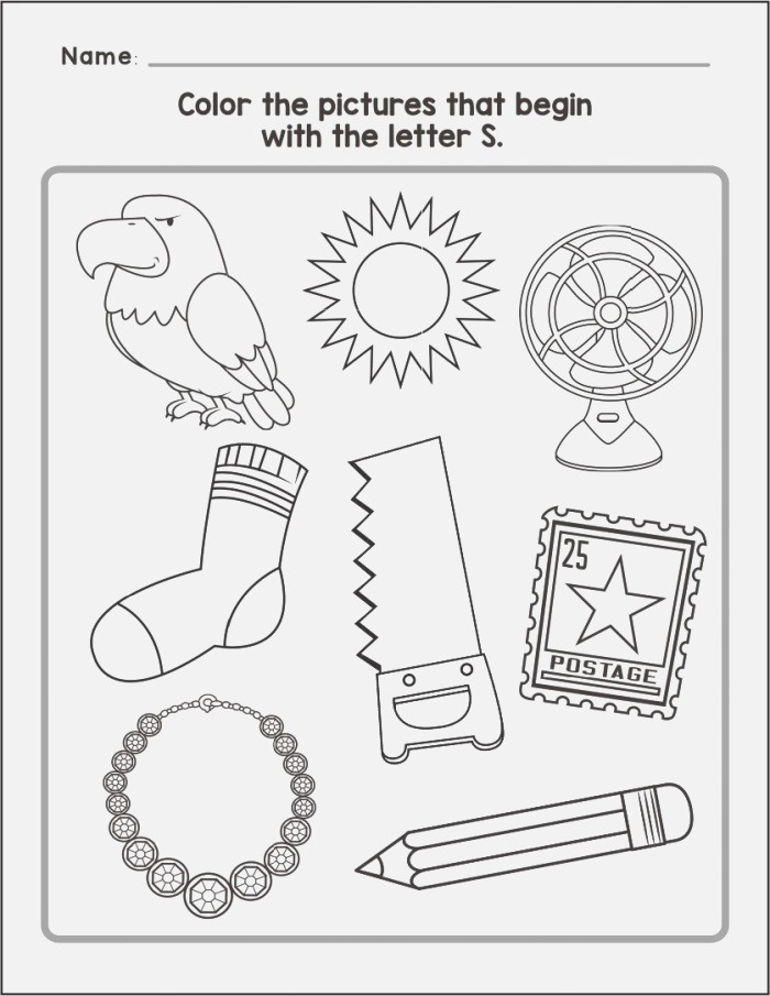 6 Best Of Printable Letter S Activities Things