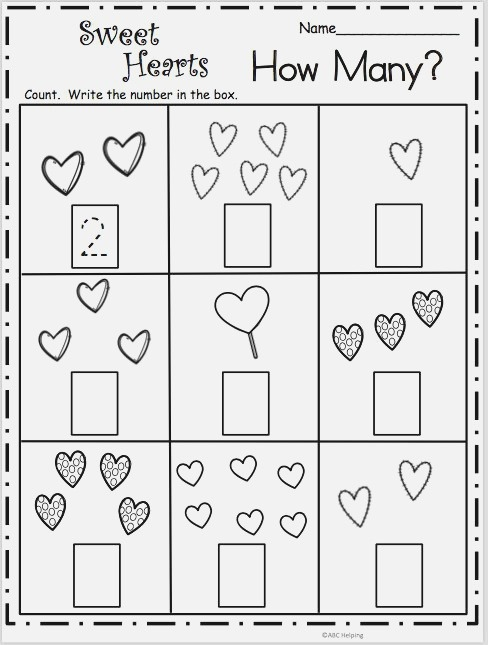 Count How Many Sweet Hearts Math Made by Teachers