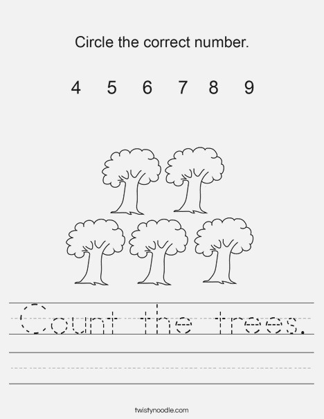 Count the Trees Worksheet Twisty Noodle