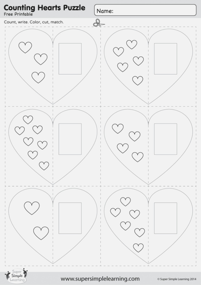 Counting Hearts Puzzle Super Simple