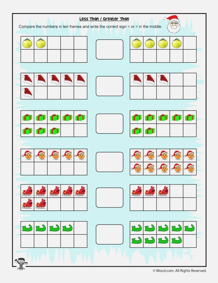 Easy Counting Greater Than Less Than Worksheet