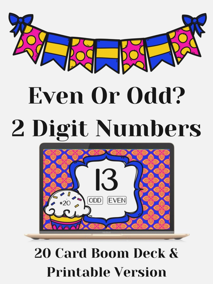 even or Odd 2 Digit Numbers Boom Deck and Task Cards