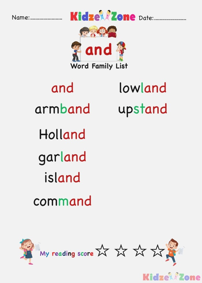 Explore and Learn Words From and Word Family