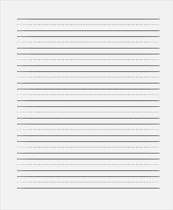 Free 19 Sample Lined Paper Templates In Pdf