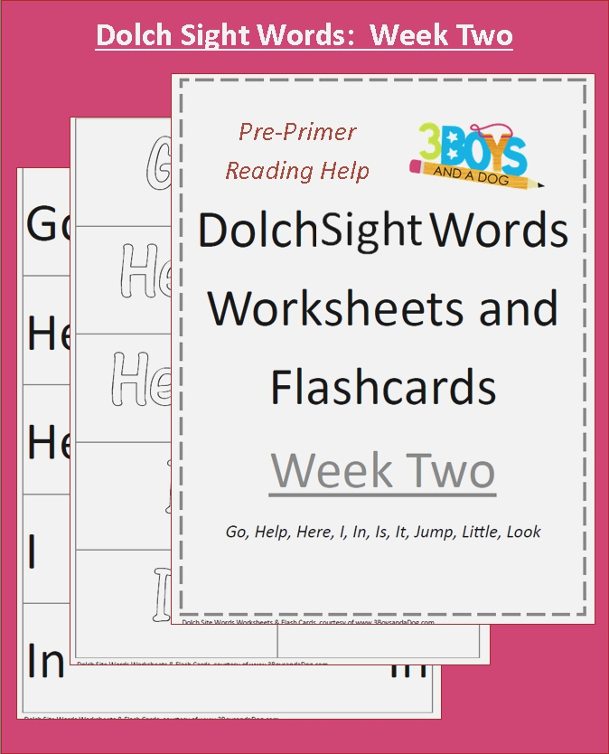 Free Dolch Sight Words Worksheets
