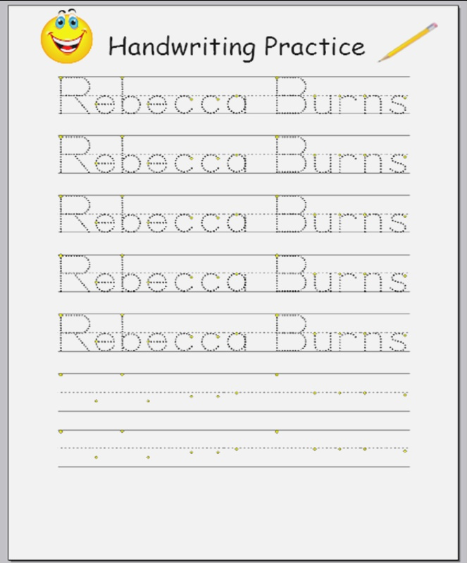 Free Traceable Name Worksheets