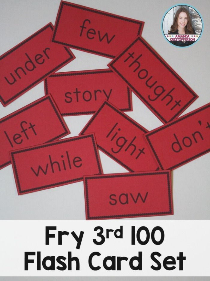 Fry Third Hundred Sight Word Flashcards