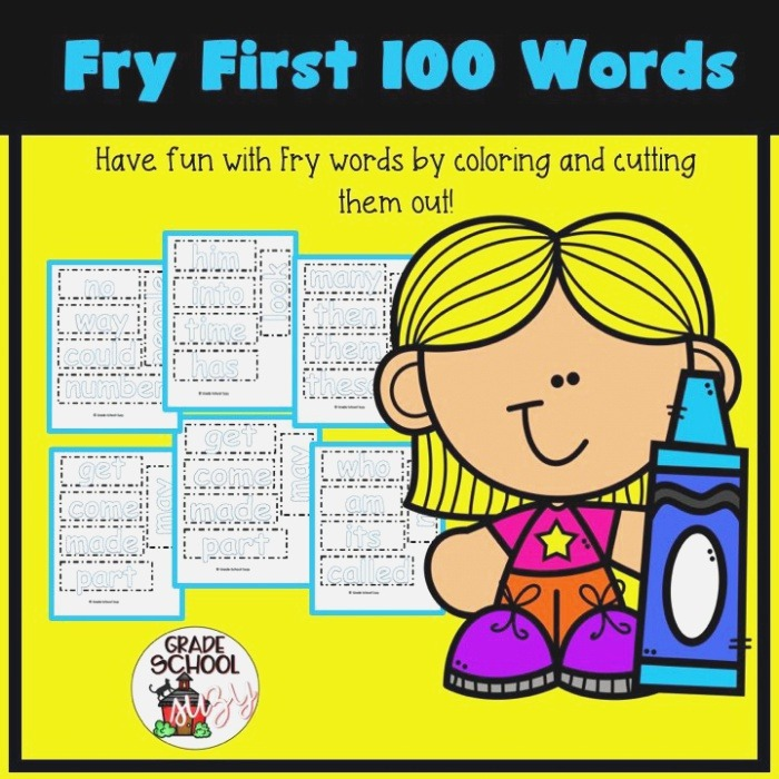 Help Your Students Recognize their Fry Word Lists with