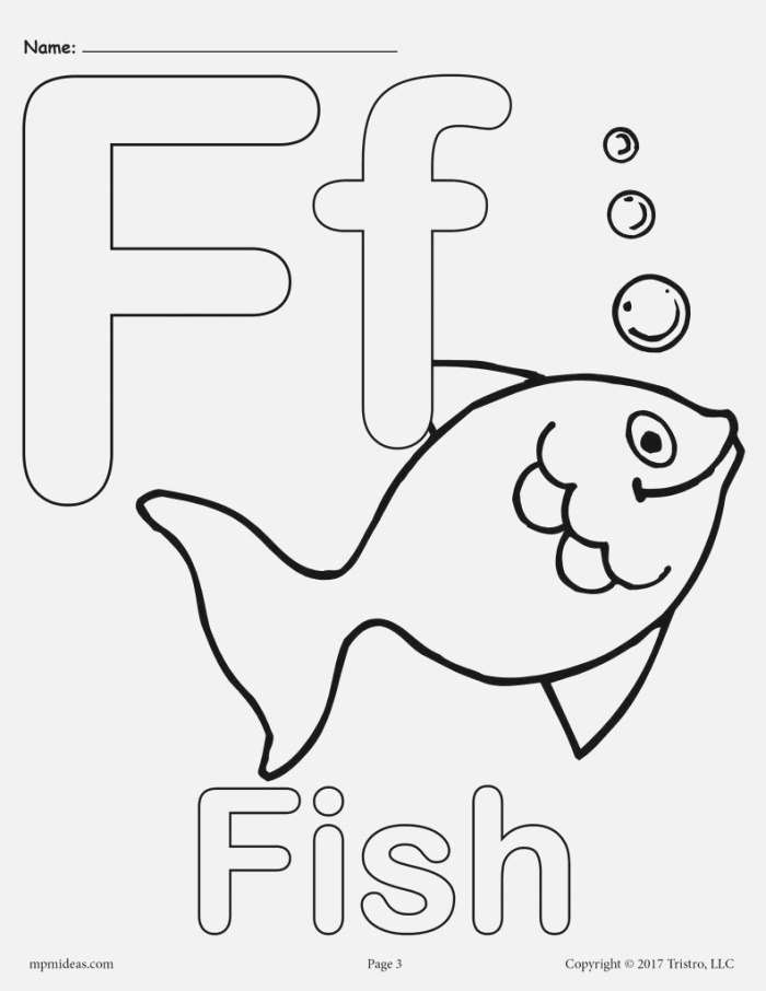 Letter F Alphabet Coloring Pages 3 Free Printable