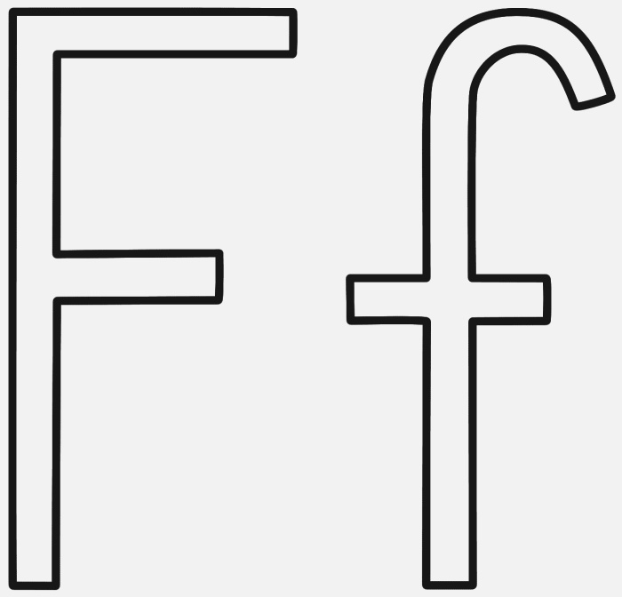 Letter F Coloring Page Alphabet