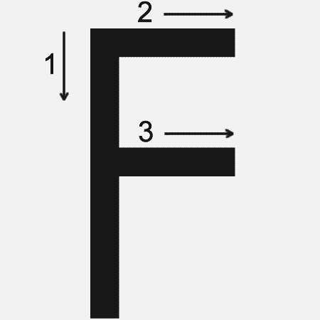Letter F Printing Worksheet Both Cases Trace 1 Print 1
