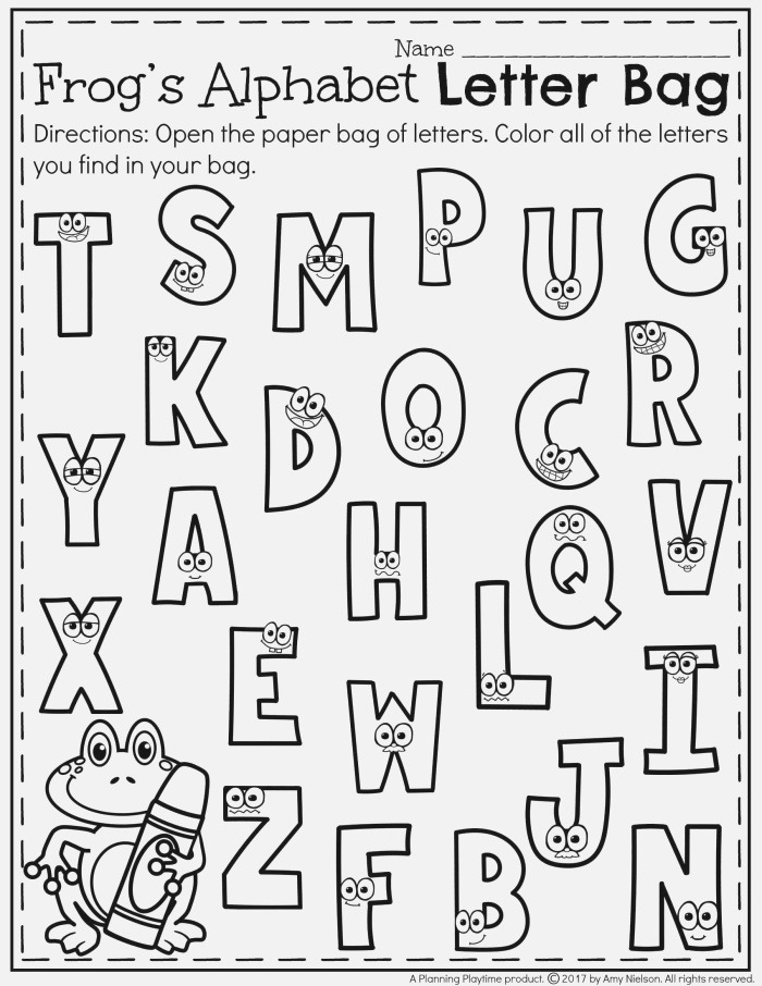 Letter Recognition Worksheets Teachers Pay Teachers My