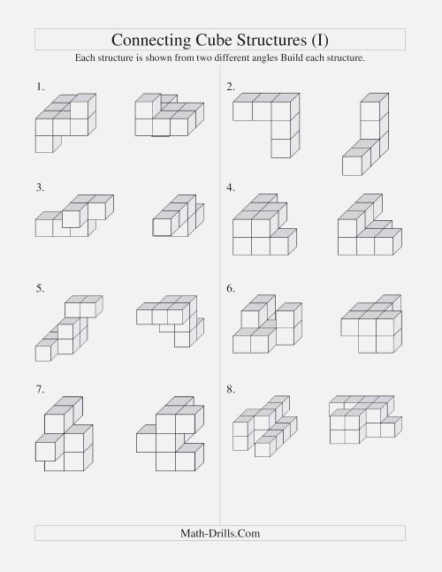 New 715 Counting Cubes Worksheets