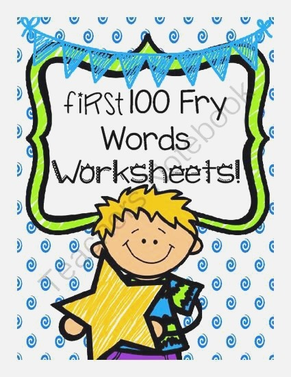 No Prep First 100 Fry Words Worksheets From Teacher