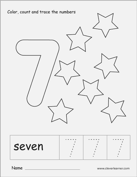 Number Seven Writing Counting and Recognition Activities