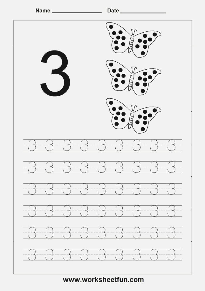 Number Tracing 3