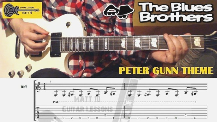 Peter Gunn theme the Blues Brothers Guitar Lesson with