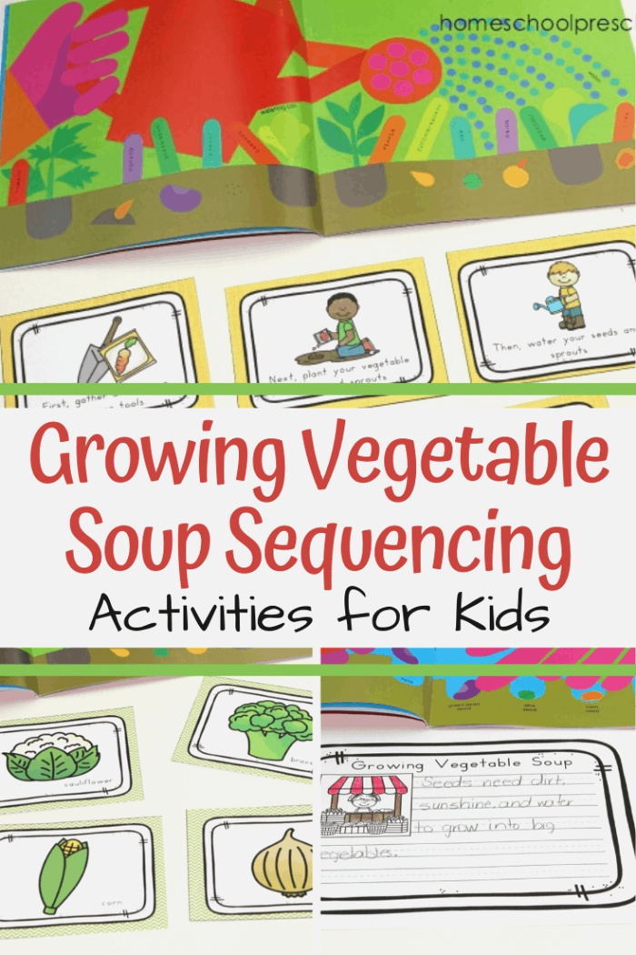 Printable Growing Ve Able soup Story Sequence Cards