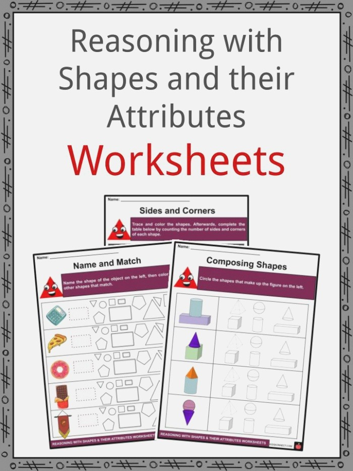 Reasoning with Shapes and their attributes Facts & Worksheets