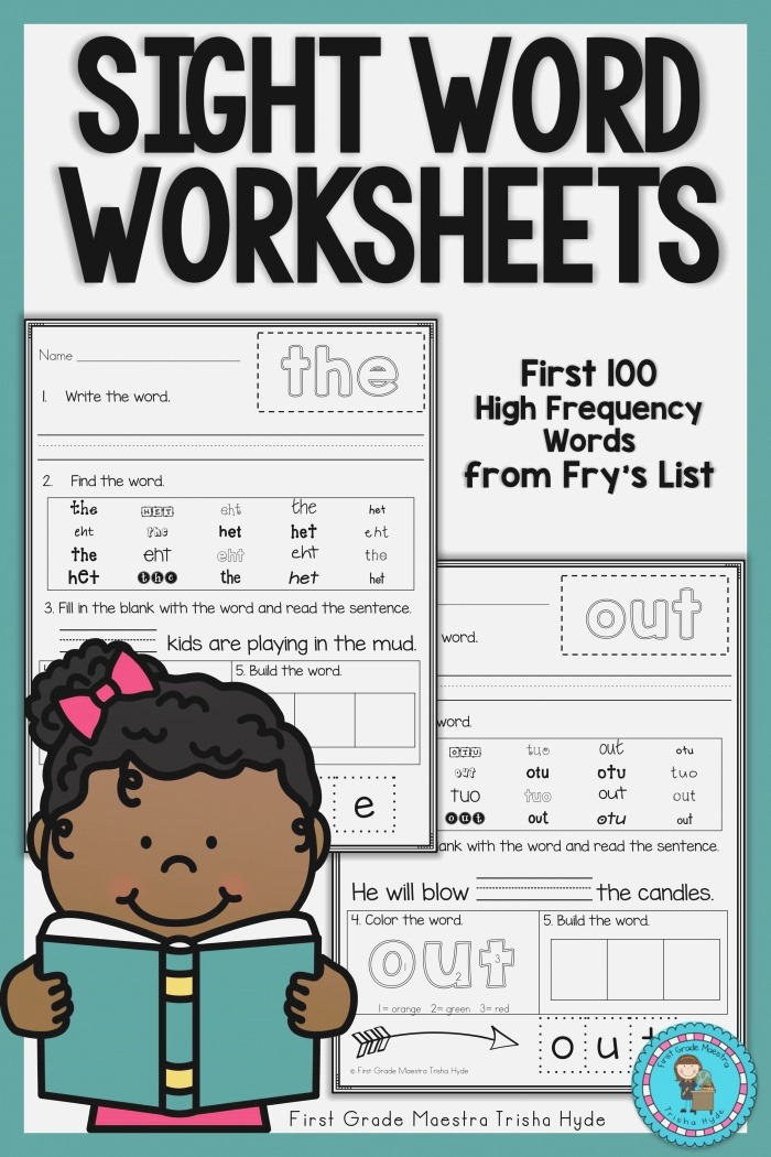 Sight Words Frys First 100 Practice Worksheets