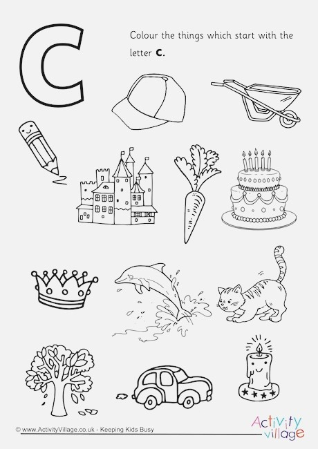Start with the Letter C Colouring Page