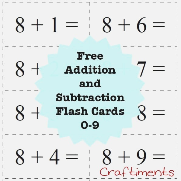 Super Fun Math Activity and Free Printable Flash Cards
