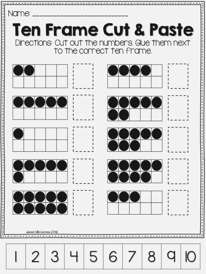 Ten Frame Practice Worksheets and Games