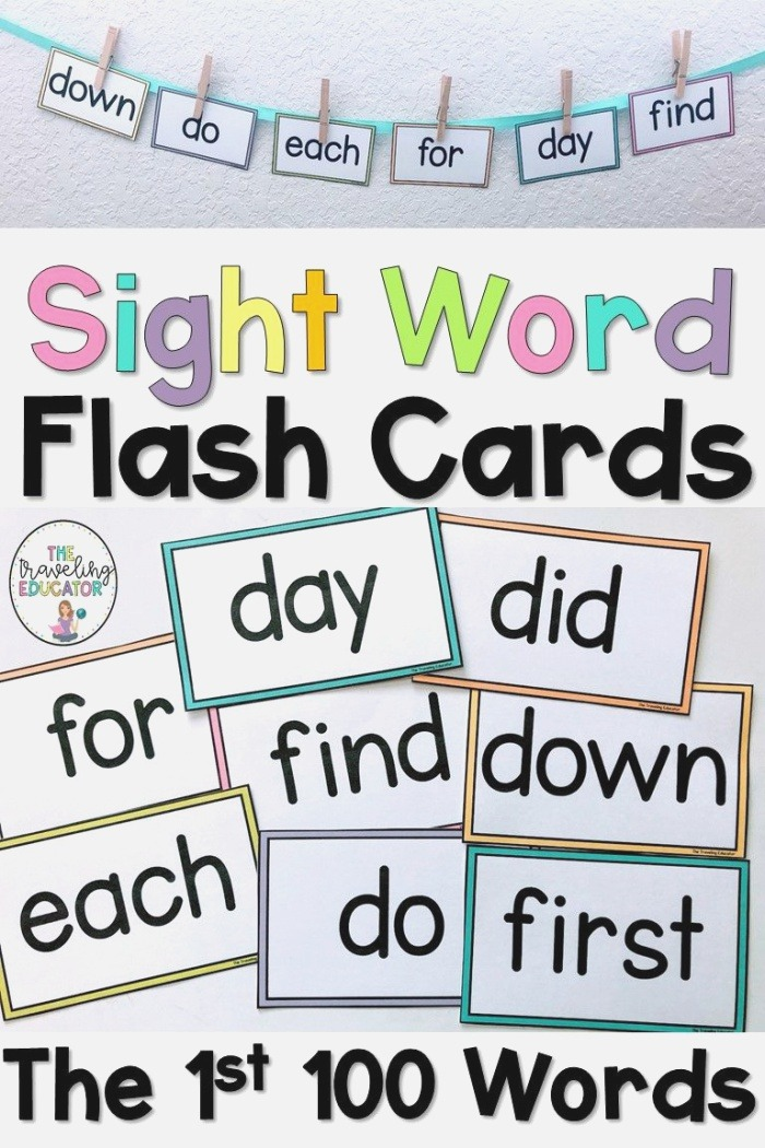 the First 100 Sight Word Flash Cards
