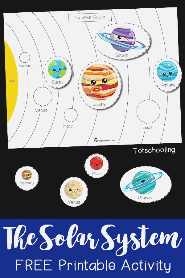 the solar System Printable Activity