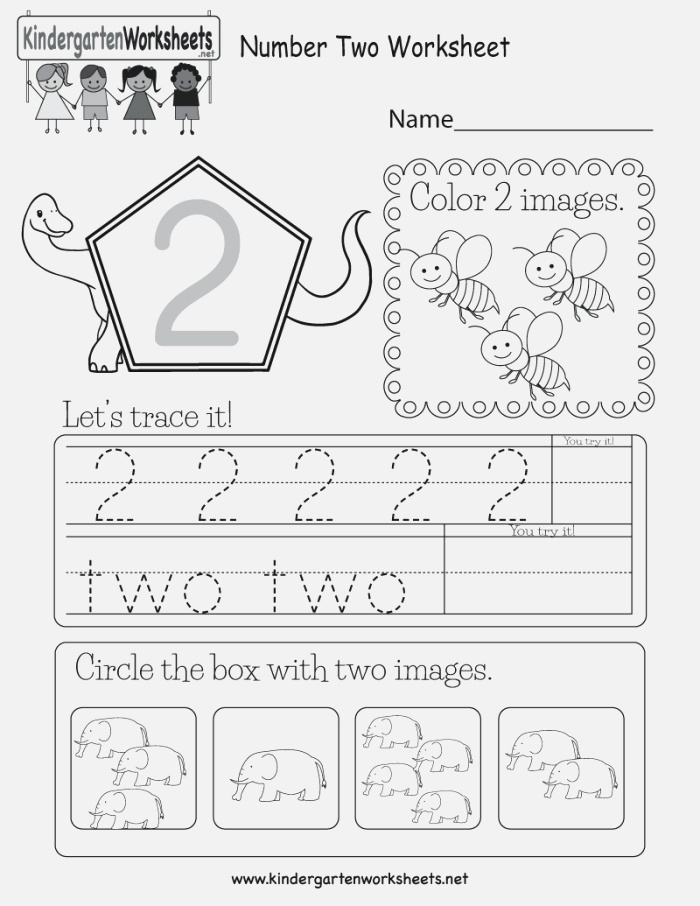 This is A Number 2 Activity Worksheet Kids Can Trace the