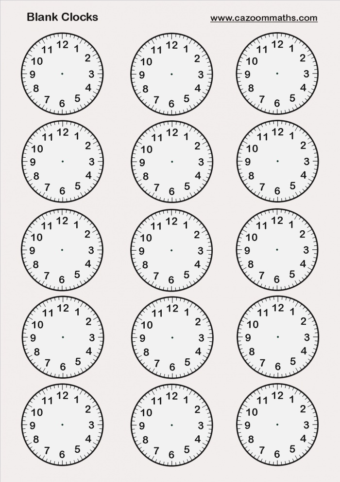 Time Cazoom Maths Worksheets