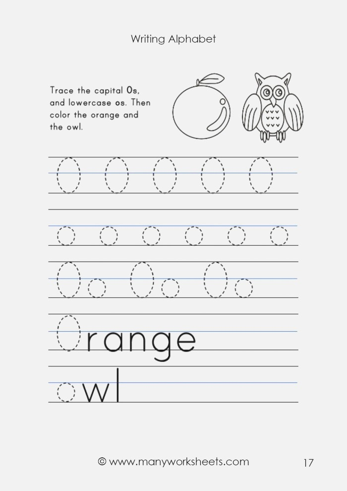 Tracing Uppercase O and Lowercase O