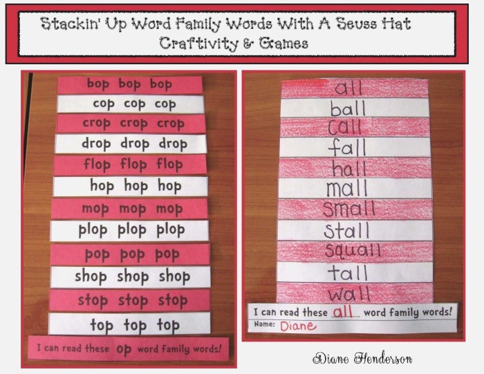 Word Family Activities Stackin Up 39 Word Families A