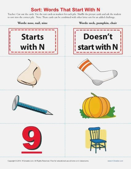 Words Starting with Letter N