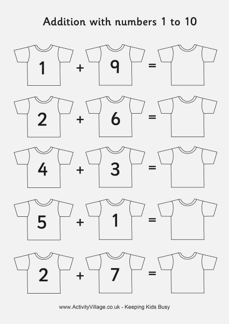 11 Best Of Addition Worksheets Sums to 10