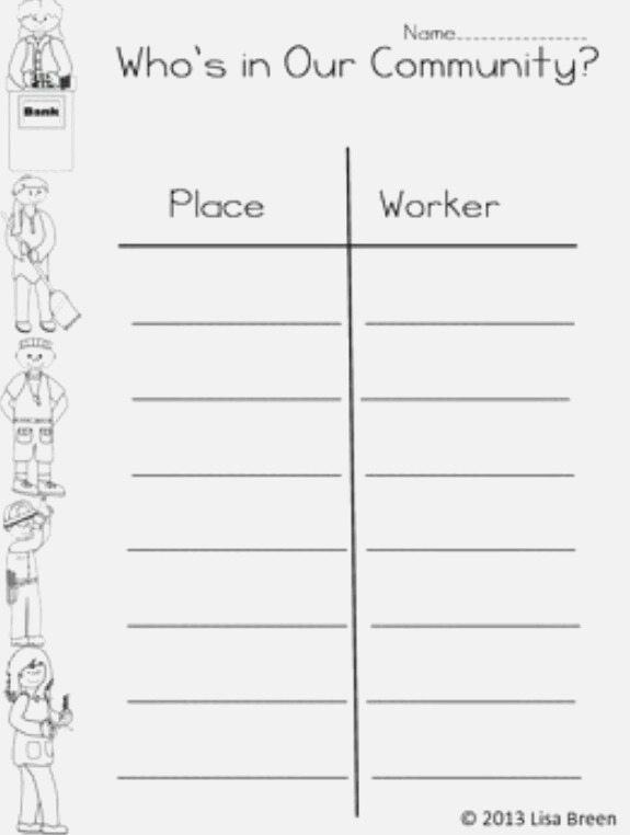 11 Best Of First Grade Munity Worksheets My