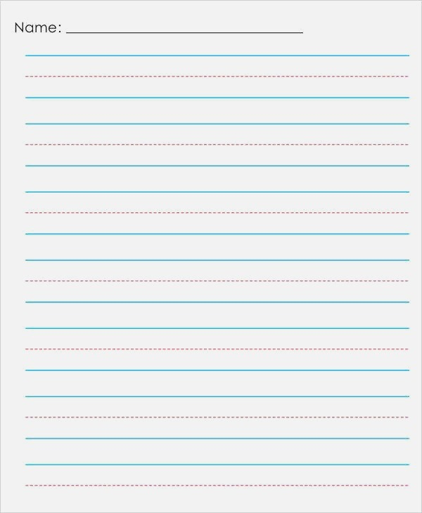 14 Lined Paper Templates In Pdf