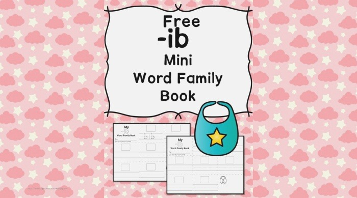2 Free Ib Cvc Word Family Worksheets Make A Word Family Book