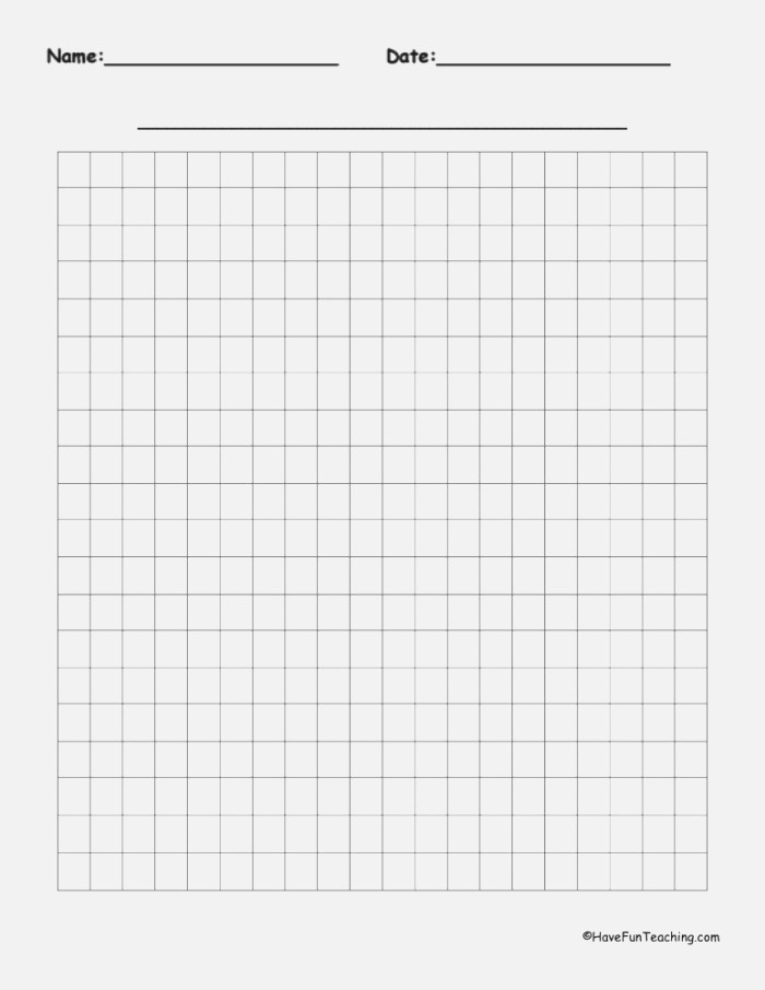 20 by 20 Blank Graph Paper