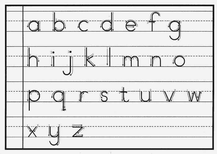 7 Best Of Printable Lowercase Cursive Letters
