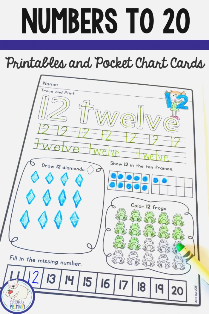 Activities for Numbers to 20 Printables for Each Number 1