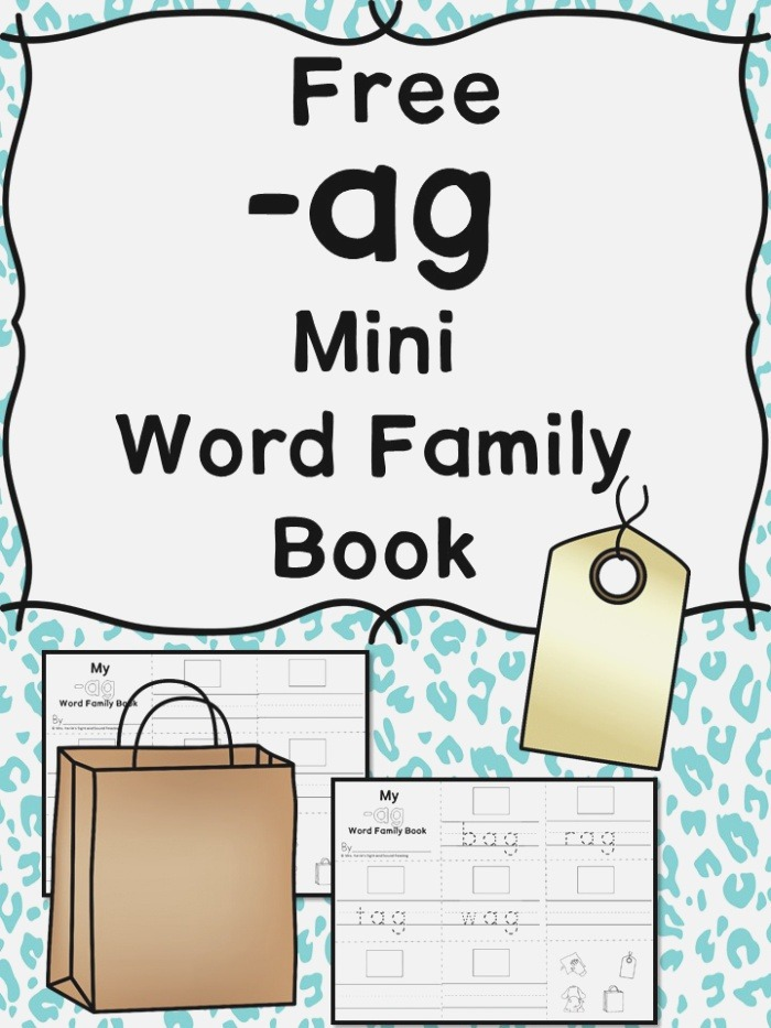 Ag Cvc Word Family Worksheets Create A Word Family Book
