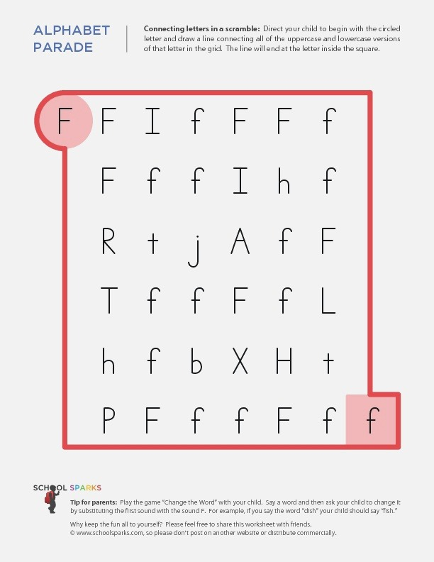 Alphabet Parade Connecting Letters In A Scramble Letter