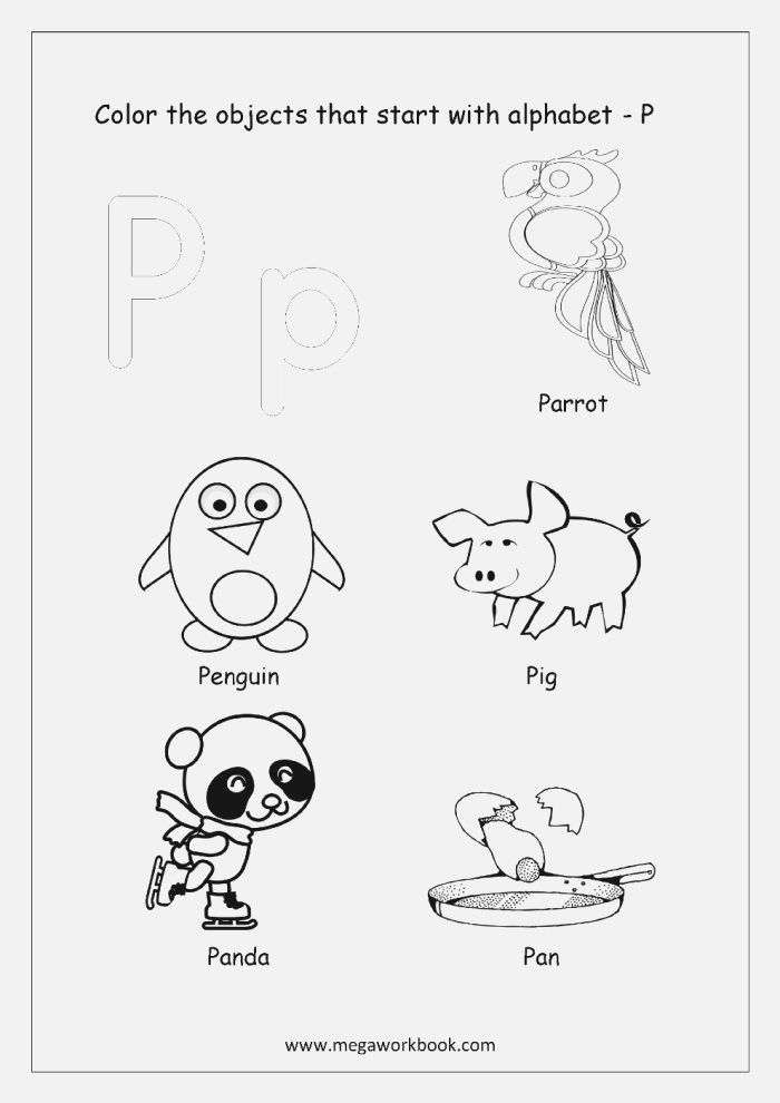 Alphabet Picture Coloring Pages Things that Start with