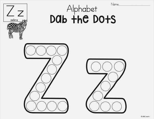 Alphabet Worksheets Dab A Dot Made by Teachers