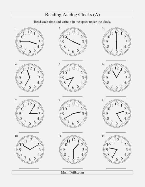 Analogue Clocks Worksheets and Free Worksheets On Pinterest