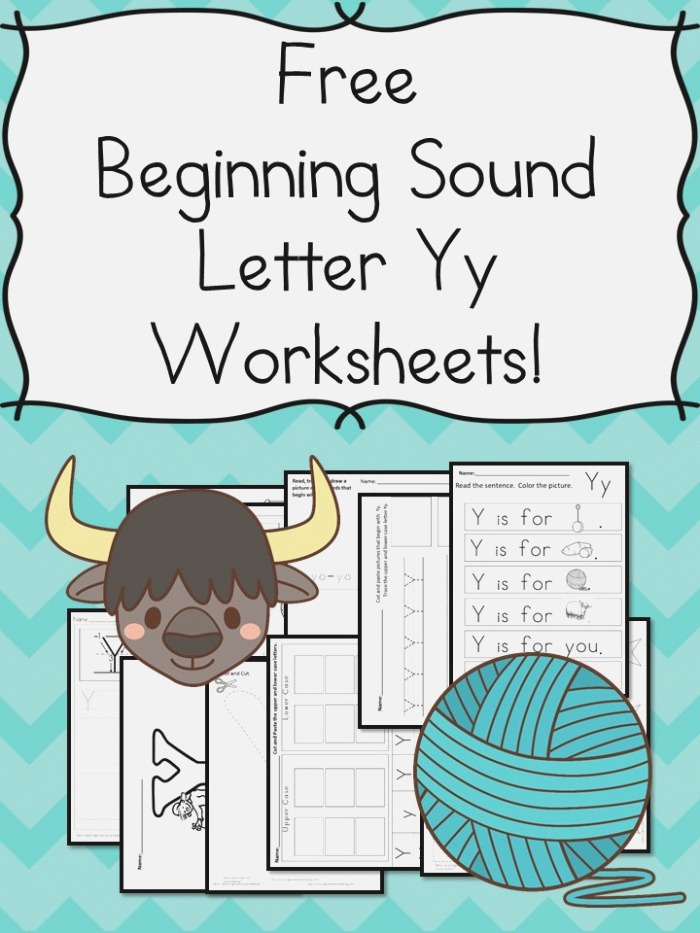Beginning sounds Letter Y Worksheets – Free and Fun